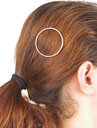 Women Simple Style Geometric Metal Ring Hairpin Hair Accessories Jewelry