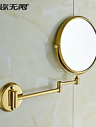 WeiYuWuXian® 360 Degree Rotating 8-inch 3X Magnifying Solid Brass Cosmetic Mirror