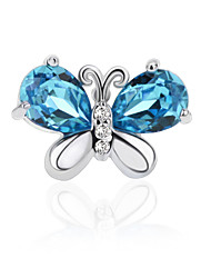 925 Sterling Silver CZ Stone Fashion Butterfly Crystal Stud Earring