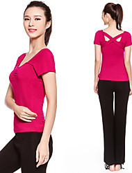 Running Clothing Sets/Suits Women's Short Sleeve Breathable / Quick Dry / Compression / Lightweight Materials Terylene Yoga SportsSports