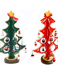 Miniature wooden Christmas tree