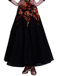 Bas / Robes et Jupes / Jupes(Noire / Or / Jade,Velours,Danse moderne / Danse de Salon / Jazz / Spectacle / Salle de bal)Danse moderne /