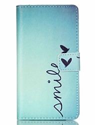 Smile Painted PU Phone Case for Sony Xperia Z5
