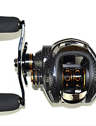 SHISHAMO 6.3:1, 18 Ball Bearings One Way Clutch Baitcasting Reel Fishing Reel, Left Handed Carp Fishing Reel