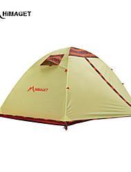 HIMAGET 2 Personen Zelt Doppel Einzimmer Camping Zelt 2000-3000 mm Aluminium Oxford Polyester-TaftFeuchtigkeitsundurchlässig Wasserdicht
