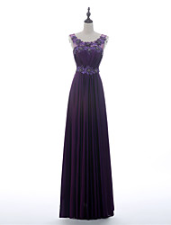 A-line Mother of the Bride Dress - Grape Floor-length Charmeuse