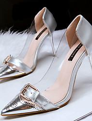 Women's Shoes Fleece Low Heel Heels Sandals / Heels Casual Black / Silver / Gold