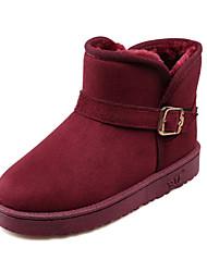Zapatos de mujer - Tacón Plano - Botas de Nieve - Botas - Exterior / Casual - Tejido - Negro / Azul / Marrón / Rojo