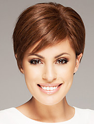 Smart Short Straight Human Virgin Hand Tied Top Female Capless Hair Wigs