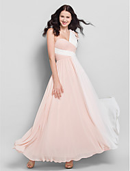 Lanting Ankle-length Chiffon Bridesmaid Dress - Multi-color A-line One Shoulder
