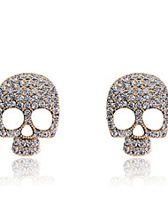 Earring Skull Stud Earrings Jewelry Women Halloween / Party / Daily / Casual Crystal / Silver Plated / Gold Plated 2pcs