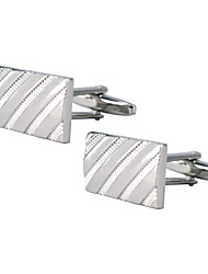 Men's Cufflinks Article Rectangle Diagonal Pattern