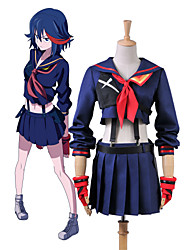 KILL La KILL Ryuko Matoi Navy Sailor Uniform Cosplay Costume