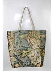 Women Cowhide The bag design for the map, fashion women leather shoulder bag Shoulder Bag / Tote - Multi-color