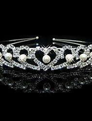 Rich Long Women's Pearl Imperial Crown