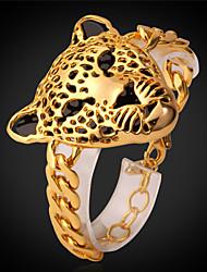 Vogue Gold Leopard Head Stud Bracelet For Women Platinum / 18K Real Gold Plated Trendy Jewelry 2015 Vintage Bracelet