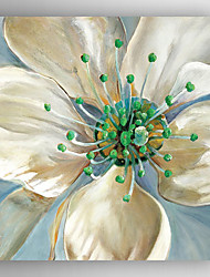 Oil Painting Impression White Flower Hand Painted Canvas with Stretched Framed