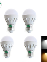 4PCS Zweihnder  @ W022 E27 3W 280LM 5500-6000K 5x5730 SMD LED lamp beads are white Shuo Bulb (AC 170-240V)