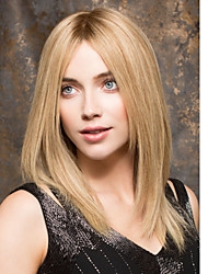 Popular Party Wig Blonde Brown Color Middle Straight Synthetic Hair Wigs