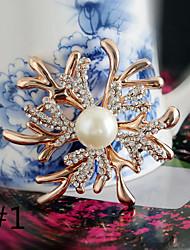 южнокорейского импорта высококачественной алмазов перлы раковины бриллиантовой брошью