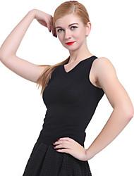 Women's Solid Black Vest , Vintage / Casual Sleeveless