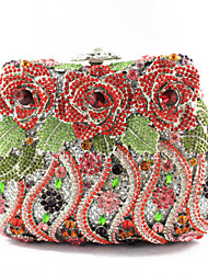 Ladies' Elegant Flower Rhinestone Hand Bags And Purses
