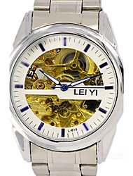 LIEYI Fully Automatic Machine, Hollow Out The Dial, Steel Belt Business Men Watch Wrist Watch Cool Watch Unique Watch