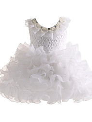 Girl White Grenadine Flower Girl Dress Baptism and Christening Dresses
