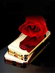 Для Кейс для iPhone 5 Зеркальная поверхность Кейс для Задняя крышка Кейс для Один цвет Твердый Акрил iPhone SE/5s/5