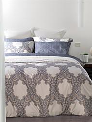 Abstract Lock Pattern European Style Cotton Bedding Set 4-Piece