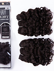 """Evet Малайзии девственные волосы 2 пучки 8 """"6а человеческие волосы Малайзии волна воды необработанный Малайзии девственные волосы 105g /"""
