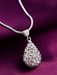 Necklace Pendant Necklaces Jewelry Wedding / Party / Daily / Casual Silver Plated Silver 1pc Gift