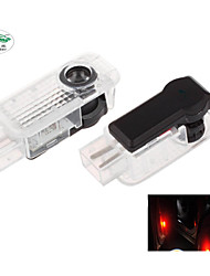 Zweihnder®2pcs Special Car Projection LED Projector Door Shadow Light Welcome Light Laser Logo (AUDI)