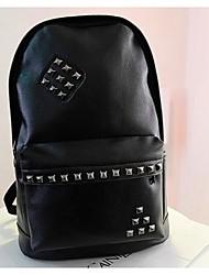 Women PU Weekend Bag Backpack - Green / Black