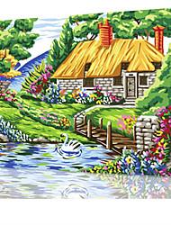 DIY digitales Ölgemälde Frame Familie Spaß Malerei alle von mir Garten x5031