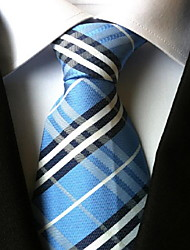 Men Wedding Cocktail Necktie At Work Blue White Black Tie