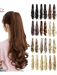 Smilco Hair 22inch 55cm 100g/pcs Hair Cips Claw Curly Ponytail 17 Color Optional Hairpieces  Ponytail Hair Extension