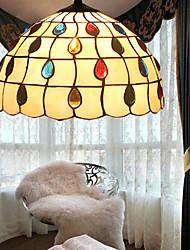 E27 220V 20*14CM 5-10㎡European Rural Creative Arts Stained Glass Chandelier Restoring Ancient Ways Lamp Led Light