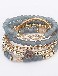 Women's Wrap Bracelet Jewelry Fashion Bohemian Rhinestone Glass Alloy Irregular Jewelry For Party Special Occasion Gift 1pc