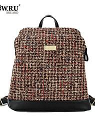 HOWRU® Women 's PU Backpack/Tote Bag/Leisure bag/Travel Bag-Khaki/Green