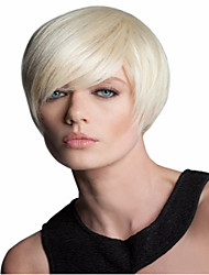 Light Blonde Color Synthetic Short  Wigs To European Women Lady High Quality
