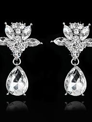 Damen Ohrring Silber / Legierung Strass Drop Earrings