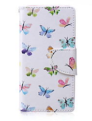papillon modèle en cuir PU matériau carte flip pour Samsung Galaxy A3 / A5
