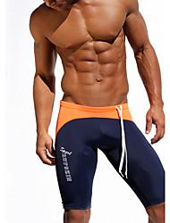 Pantalon de Sport Pour des hommes A Motifs Sport Polyester / Spandex Orange / Gris