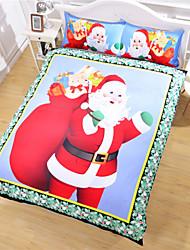 Santa Claus Duvet Cover Set Christmas Duvet Cover Bedding Set Sale Unique Design Twin Full King