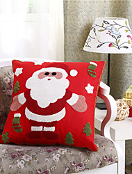 Embroidered Santa Claus Christmas Pillow With Insert