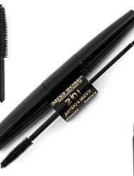 2 in One Natural Black Mascara and Facial Waterproof Long-lasting Liquid Eyeliner  Makeup Set