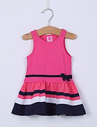 Vestido Chica de - Verano - Algodón - Negro / Rosa