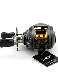 DMK DM120LG-S 10 Bearing Bait Casting Fishing Reel Gear Ratio 6.3:1 Max Drag 5kg Left Handle Centrifugal Brake