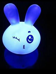 6.5*6.5*8.5CM Christmas 7 Colour Look Cute Cartoon Rabbit Small Night Light LED Lamp (Random Color)